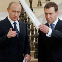 """Russia's President Dmitry Medvedev and Russia's Prime Minister Vladimir Putin: """"Whether it was prudent to try to play Medvedev and…"""