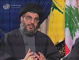 Hizbullah leader Sheikh Hassan Nasrallah, pictured during a 27 August television interview in which he spoke about misjudging the consequences…