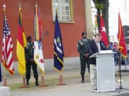 Henning von Steuben addresses the distinguished audience