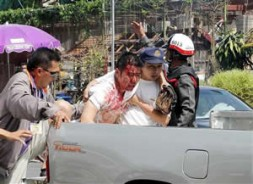A Thai victim of a terrorist attack in the South.